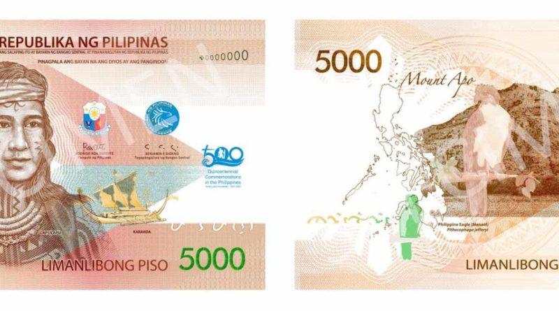 PHILIPPINEN MAGAZIN - NACHRICHTEN - Zentralbank gibt 5000 Peso Lapu-Lapu-Banknote aus