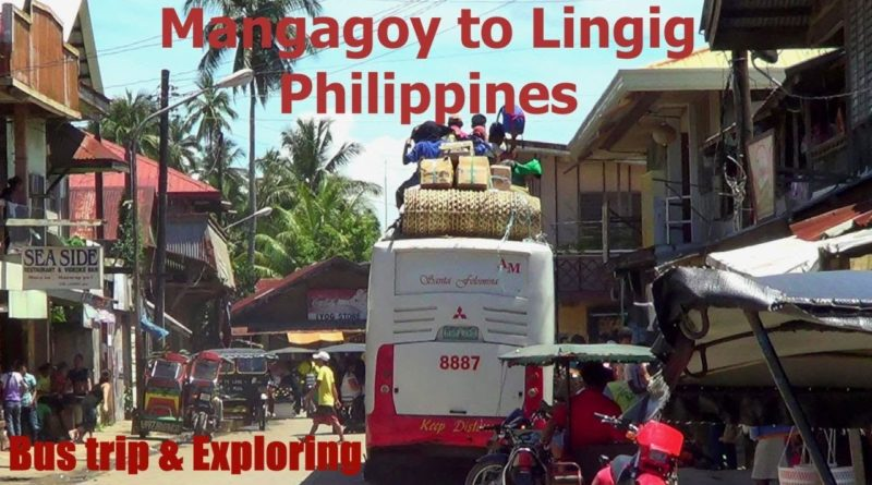PHILIPPINEN MAGAZIN - VIDEOSAMMLUNG - Mit dem Bus von Mangagoy nach Linig