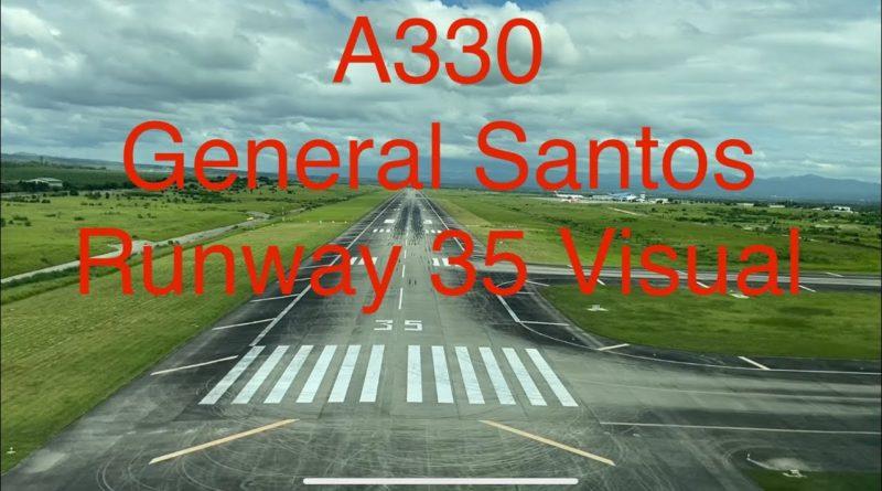 PHILIPPINEN MAGAZIN - VIDEOSAMMLUNG - Pilotensicht Landung in General Santos Runway 35