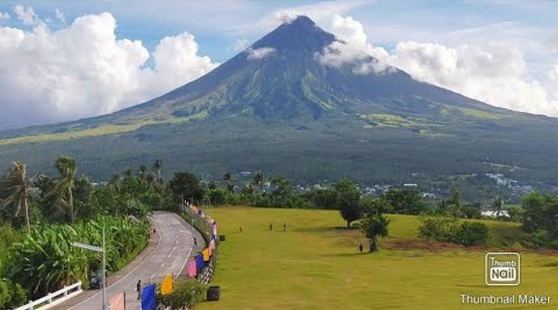 Großartige Aussicht auf den Mayon Vulkan