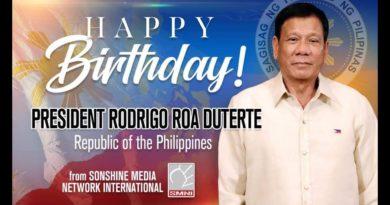 Beste Wünsche zum 76. Geburtstag von Präsdient Rodrigo Duterte