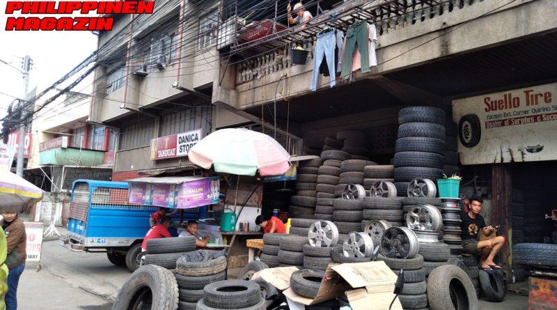 PHILIPPINEN MAGAZIN - FOTO DES TAGES - Beim Reifenhändler ist mehr los als man denkt Foto von Sir Dieter Sokoll für PHILIPPINEN MAGAZIN