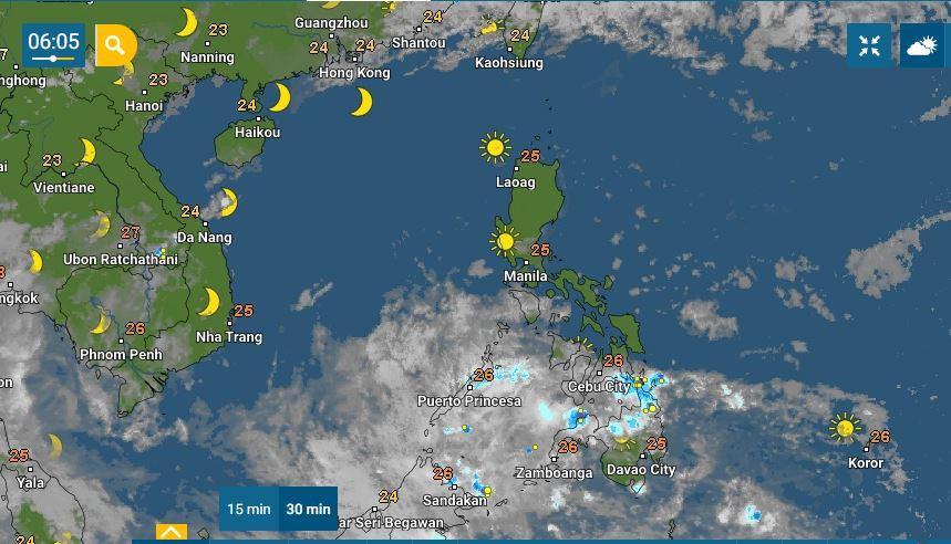 PHILIPPINEN MAGAZIN - WETTER - Die Wettervorhersage für die Philippinen, Donnerstag, den 01. April 2021