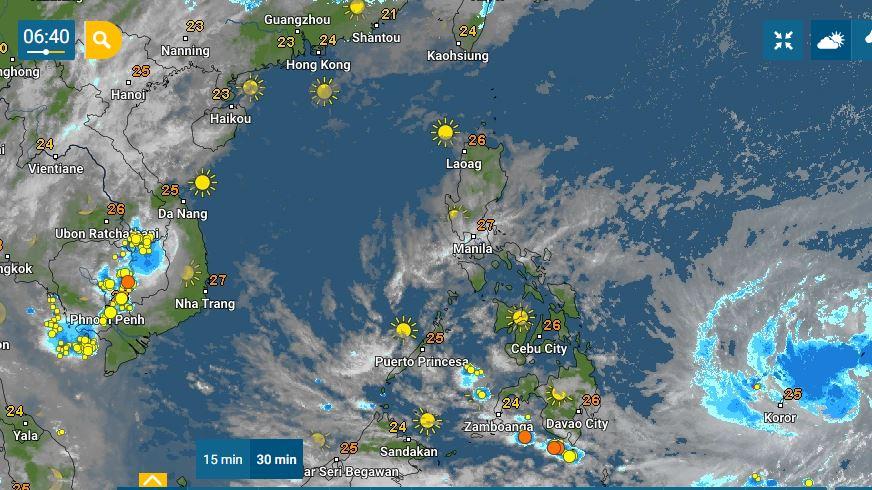 PHILIPPINEN MAGAZIN - WETTER - Die Wettervorhersage für die Philippinen Mittwoch, den 14. April 2021