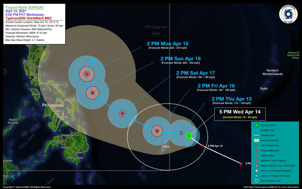 PHILIPPINEN MAGAZIN - WETTER - Die Wettervorhersage für die Philippinen Donnerstag, den 15. April 2021