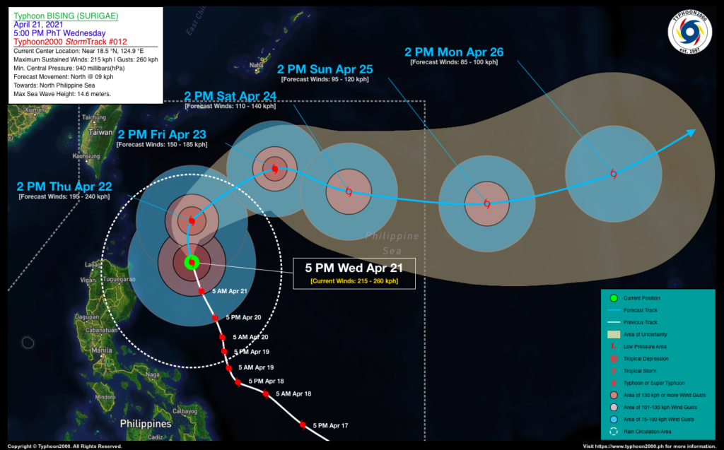 PHILIPPINEN MAGAZIN - WETTER - Die Wettervorhersage für die Philippinen Donnerstag, den 22. April 2021