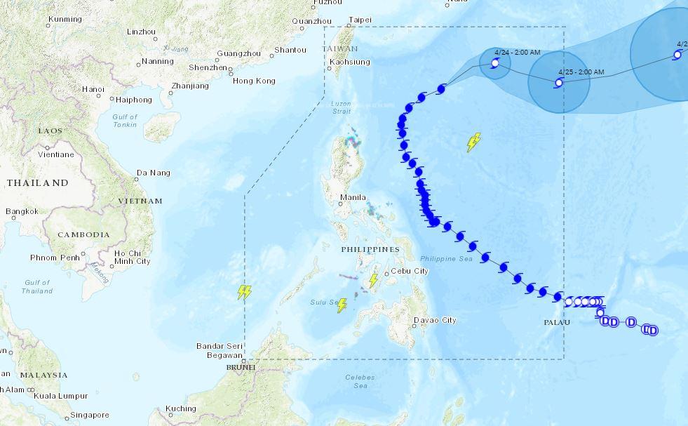 PHILIPPINEN MAGAZIN - WETTER - Die Wettervorhersage für die Philippinen Freitag, den 23. April 2021
