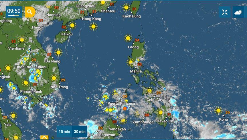 PHILIPPINEN MAGAZIN - WETTER - Die Wettervorhersage für die Philippinen Samstag, den 15. Mai 2021