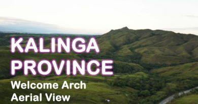 PHILIPPINEN MAGAZIN - VIDEOSAMMLUNG - Luftaufnahmen des Willkommensbogens in der Provinz Kalinga