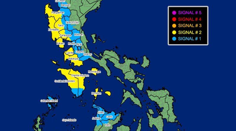UPDATE der Sturmwarnungen mit den neuesten Sturmsignalen