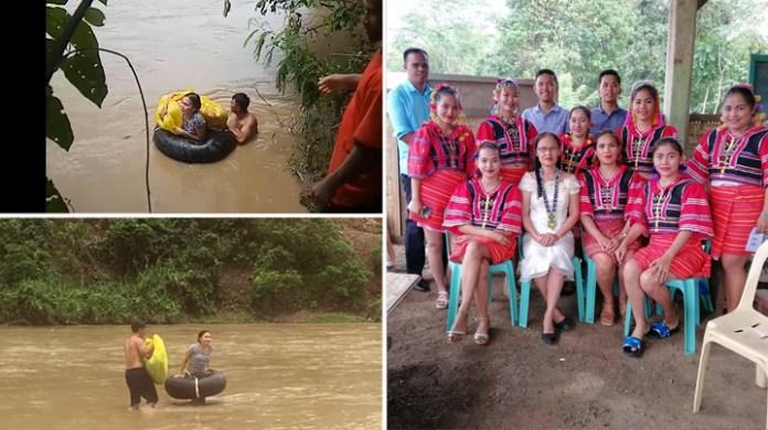PHILIPPINEN MAGAZIN - FEUILLETON - Lehrepersonal in Kitaotao muss Fluss durchqueren