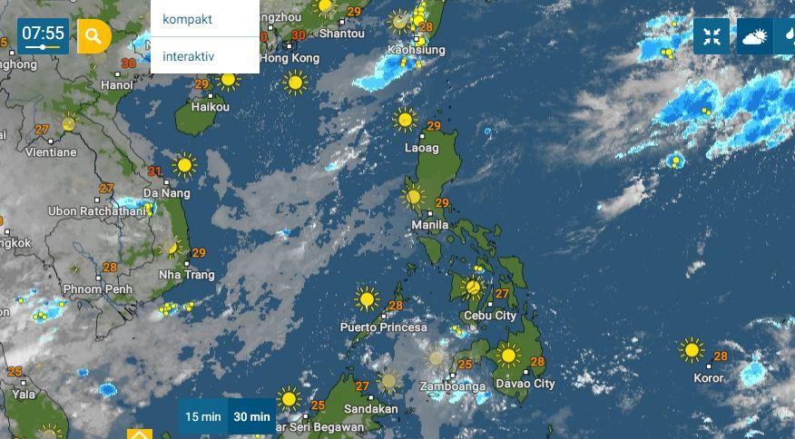 PHILIPPINEN MAGAZIN - WETTER - Die Wettervorhersage für die Philippinen, Mittwoch, den 16. Juni 2021