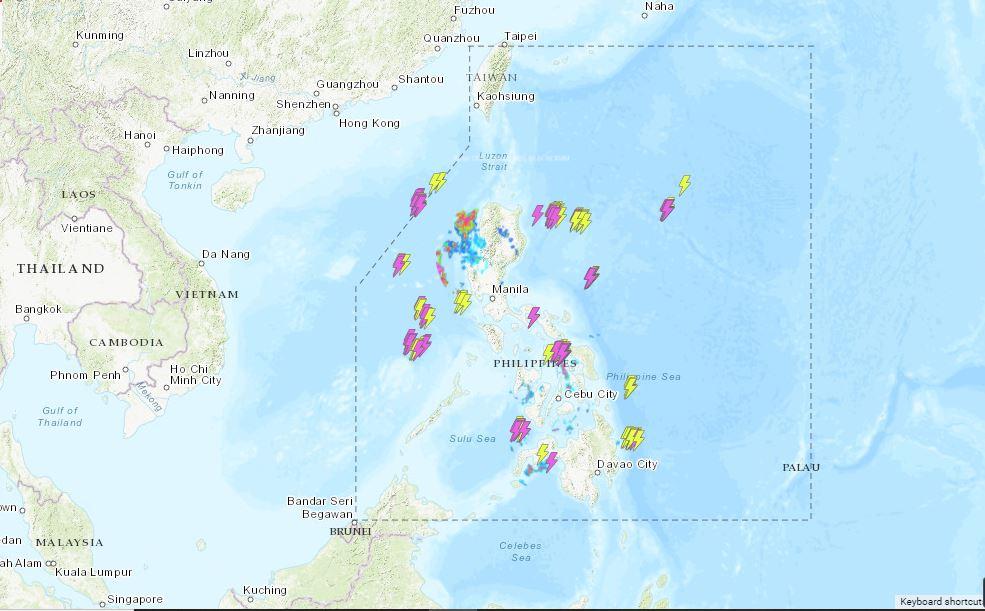 Die Wettervorhersage für die Philippinen, Donnerstag, den 24. Juni 2021