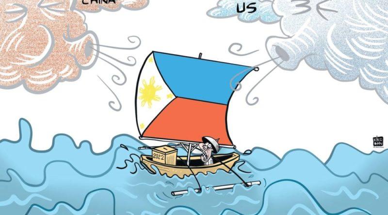 Die Karikatur im Philippinen Magazin