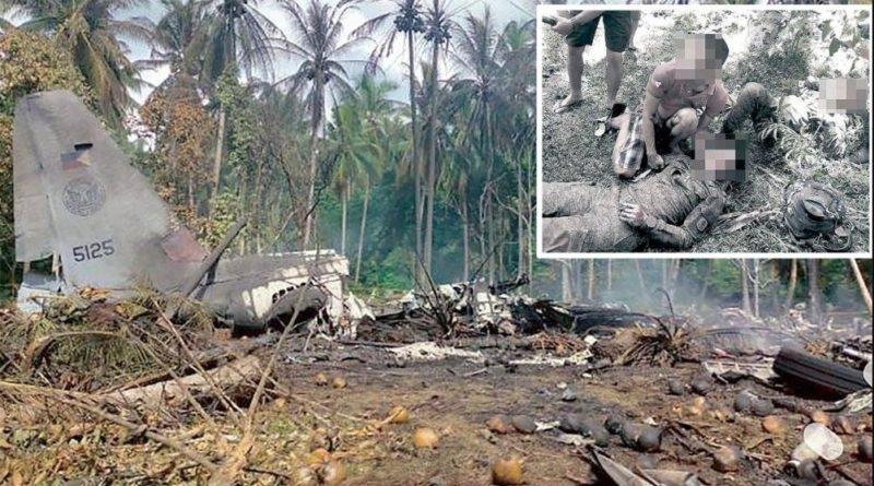 PHILIPPINEN MAGAZIN - NACHRICHTEN - 45 Tote beim Absturz eines Air Force Flugzeugs in Sulu