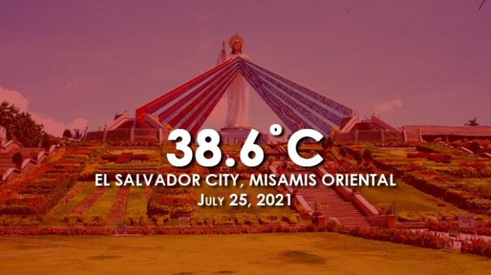 PHILIPPINEN MAGAZIN - NACHRICHTEN - El Salvador City verzeichnet im Juli 2021 mit 38,6˚C die höchste Temperatur des Landes