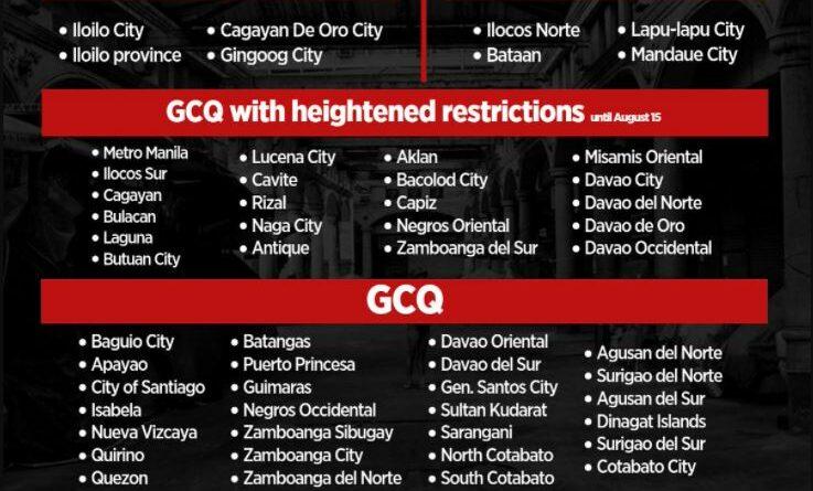 PHILIPPINEN MAGAZIN - NACHRICHTEN - NCR unter GCQ mit verschärften Einschränkungen vom 1. August bis 15. August 2021