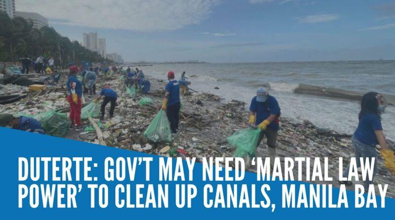 PHILIPPINEN MAGAZIN - NACHRICHTEN - 'Kriegsrecht zur Reinigung der Bucht von Manila erforderlich'
