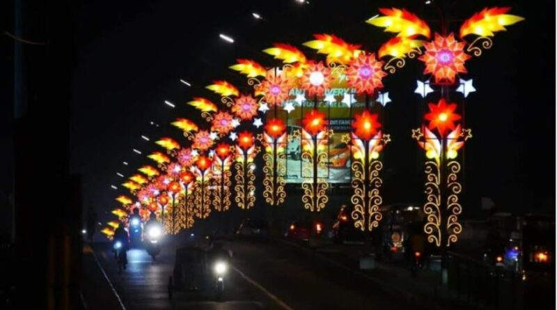 PHILIPPINEN MAGAZIN - NACHRICHTEN - Angeles City beleuchtet Laternen entlang der Brücken