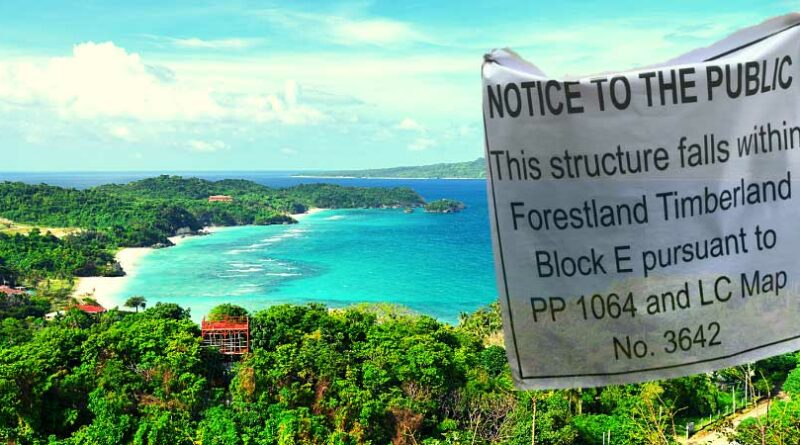 PHILIPPINEN MAGAZIN - NACHRICHTEN - NBI erhebt Anklage gegen 4 Einwohner von Boracay wegen Verletzung des Forstgesetzes