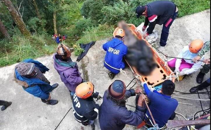 PHILIPPINEN MAGAZIN - NACHRICHTEN - 3 Tote und 3 Verletzte beim Sturz eines Kleinbusses in eine 100 Meter tiefe Schlucht in Benguet