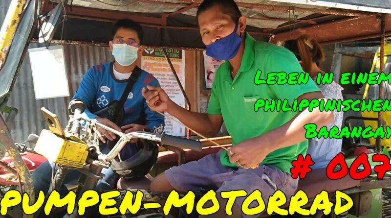 PHILIPPINEN MAGAZIN - VIDEOKANAL - Leben in einem philippinishcen Barangay # 007 - Pumpenmotorrad Foto & Video von Sir Dieter Sokoll