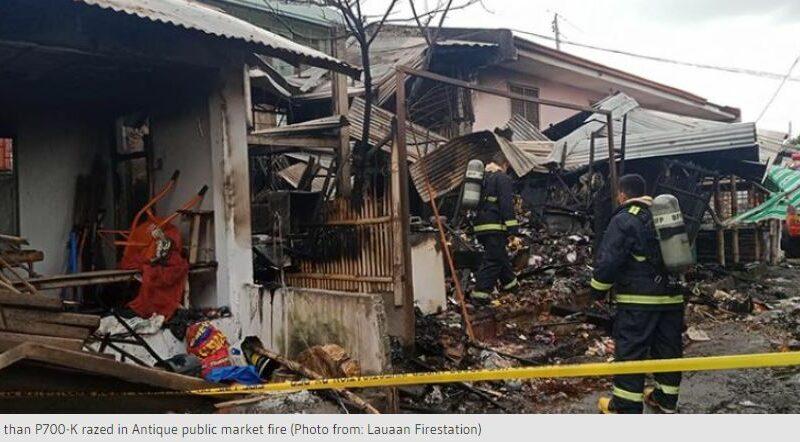 PHILIPPINEN MAGAZIN - NACHRICHTEN - Mehr als 700.000 Pesos bei Brand auf öffentlichem Markt in Antique vernichtet